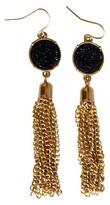 Get Gem by Gemelli Women's Get Gem by Gemelli Druzy Tassel Earrings In Black