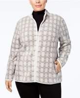 Karen Scott Plus Size Zeroproof Fleece Active Jacket, Created for Macy's