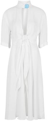 Off-White White cut-out midi dress