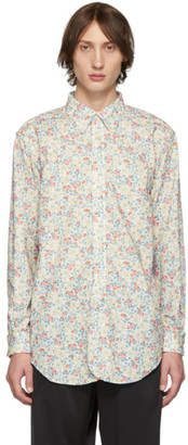 Engineered Garments White Century Floral Shirt