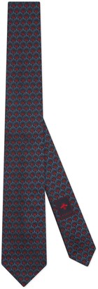 Gucci GG flowers jacquard silk tie