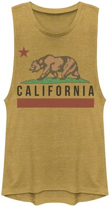 Juniors' California State Bear Flag Graphic Muscle Tank