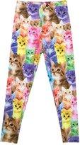 Perfashion Kids' Girl's Cartoon Cat Pattern Ankle Length Basic Leggings 110