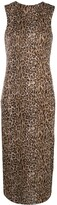 Peter Cohen leopard print sleeveless dress