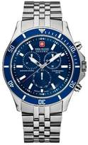 Swiss Military Hanowa Men's Flagship Chrono 06-5183-04-003 Silver Stainless-Steel Quartz Watch with Blue Dial