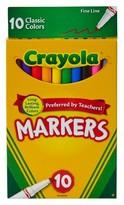 Crayola Markers, Fine Line, 10ct - Classic Multicolor