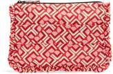 LA DOUBLEJ EDITIONS Geometric-print ruffle-trimmed pouch