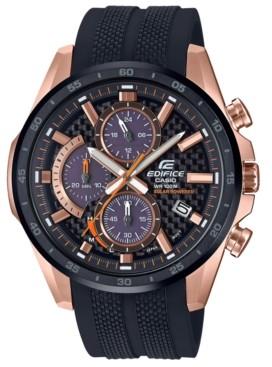G-Shock Edifice Men's Solar Black Resin Strap Watch 47.6mm