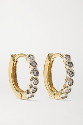 Mateo 14-karat Gold Diamond Hoop Earrings - one size