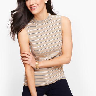 Talbots Sleeveless Mockneck Sweater - Stripe