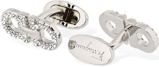 Salvatore Ferragamo Double Gancio Cufflinks W/ Crystal