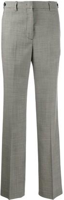 MSGM Check Pattern Wide-Leg Trousers
