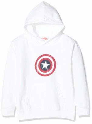 Marvel Girl's Avengers Captain America Distressed Shield Hoodie
