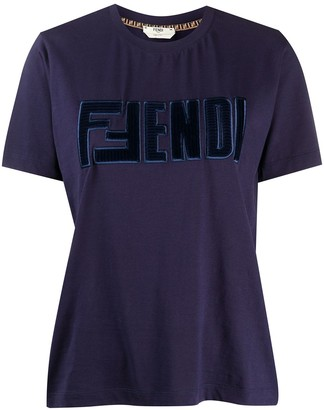 Fendi embroidered-logo cotton T-shirt
