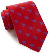 Alara Silk Taft Red & Blue Elephant Tie