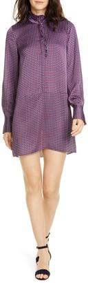 Joie Prynn Ruffle Neck Long Sleeve Shirtdress