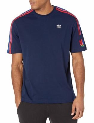 adidas Men's Adicolor 3D Trefoil 3-Stripes Tee