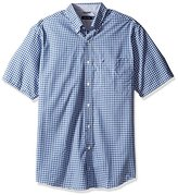 Nautica Men's Big and Tall Wrinkle Resistant Ss Plaid Button Down Shirt
