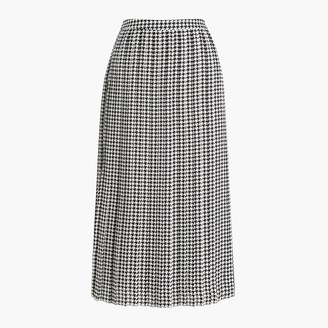 J.Crew Petite printed long pleated midi skirt