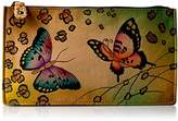Anuschka Anna By Handpainted Leather Organizer Wallet,Animal Butterfly Wallet