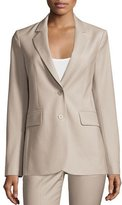 Theory Aaren Continuous Wool-Blend Jacket, Gray