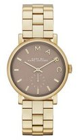 Marc by Marc Jacobs Marc by March Jacobs Baker Gold Tone Grey Dial Watch