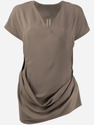 Rick Owens draped crepe T-shirt