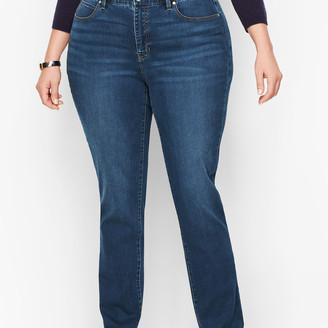 Talbots Plus Size Exclusive Straight Leg Jeans - Curvy Fit - Park Wash