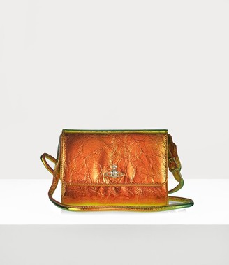 Vivienne Westwood Archive Orb Crossbody Wallet Plain Orange