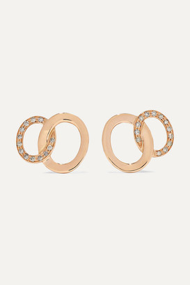 Pomellato Brera 18-karat Rose Gold Diamond Earrings