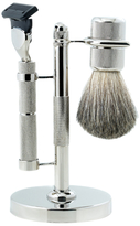 Bey-Berk Fusion Razor & Brush on Stand (3 PC)