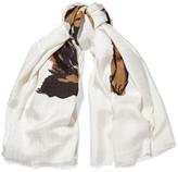 Balenciaga Printed Silk-twill Scarf - Ivory