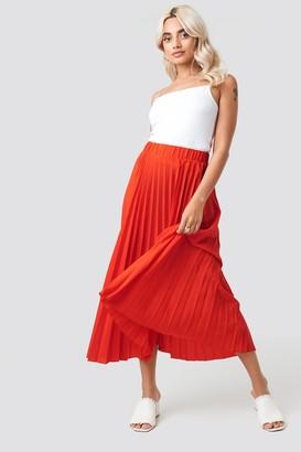 NA-KD Midi Pleated Skirt Pink