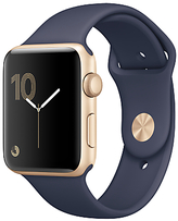 Apple Watch Series 2, 42mm Gold Aluminium Case with Sport Band, Midnight Blue