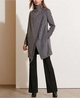 Lauren Ralph Lauren Cowl-Neck Fringe Coat