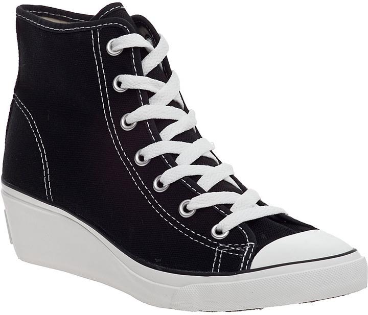 Converse Chuck Taylor Wedge Sneaker Black Canvas
