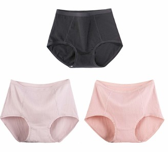 DEBAIJIA Women Underwear 3 Pack Female Knickers Lady Underpants Panty Briefs Cotton Stretch High Waist Cozy Plus Size All Seasons Suitable