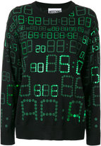 Moschino digital print sweater - women - Virgin Wool - XXS