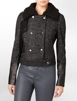 Calvin Klein Double Breasted Cropped Jacket