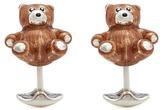 Deakin & Francis Teddy bear sterling silver cufflinks
