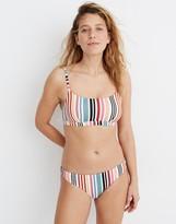 Madewell Second Wave Classic Bikini Bottom in Rainbow Stripe