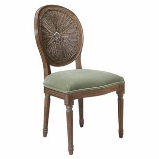 OKA Washakie Velvet Chair - Lake Green