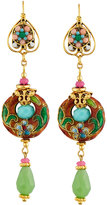 Jose & Maria Barrera Linear Floral Cloisonné Drop Earrings, Multi