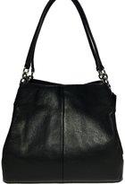 Coach Women's Phoebe Pebble leather Shoulder Bag Silver/