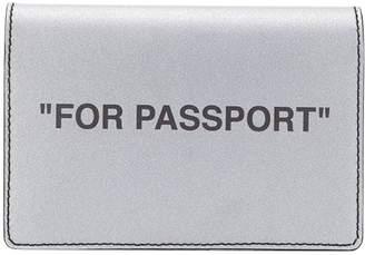 Off-White Off White silver passport holder