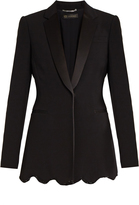 Versace Satin-lapel embellished cady jacket