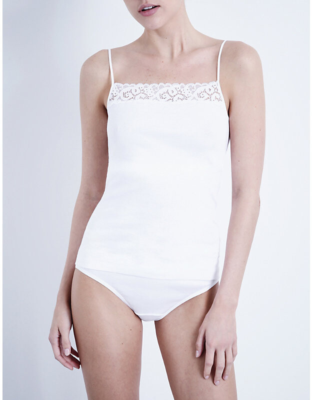 Thumbnail for your product : Hanro Ladies White Moments Camisole, Size: L