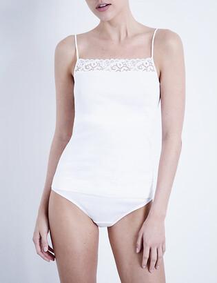 Hanro Ladies White Moments Camisole, Size: L