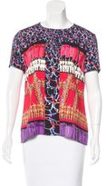 Peter Pilotto Mixed Print Short Sleeve Top