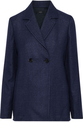 Joseph Brest Double-breasted Wool And Linen-blend Blazer